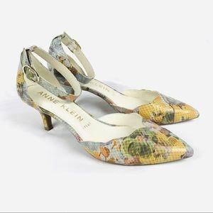 Anne Klein AKFONDA pointed toe ankle strap heels